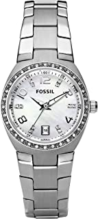 Fossil Flash Women's White Dial Stainless Steel Band Watch - AM4141