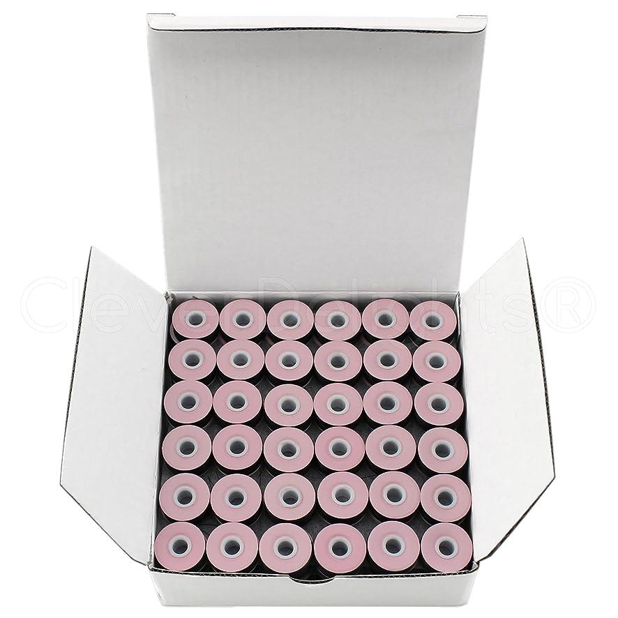 144 Pack - CleverDelights Black Prewound Bobbins - Cardboard Sided - Size L Bobbins - 3/8