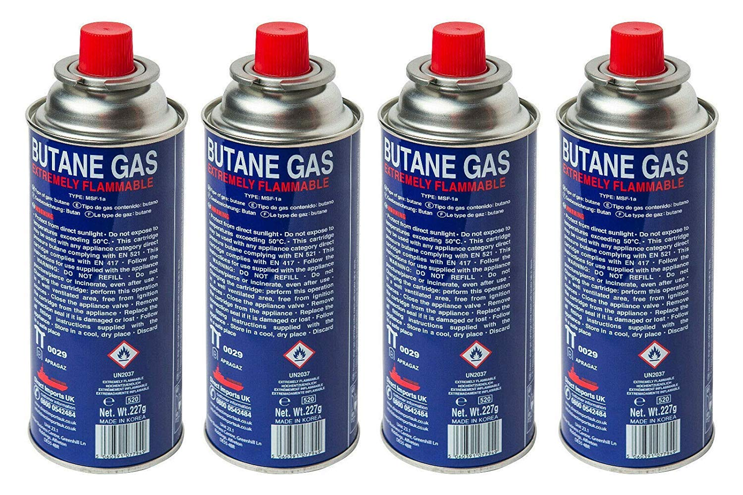 BUTANE GAS BOTTLES CANISTERS FOR PORTABLE STOVES COOKERS GRILL HEATERS