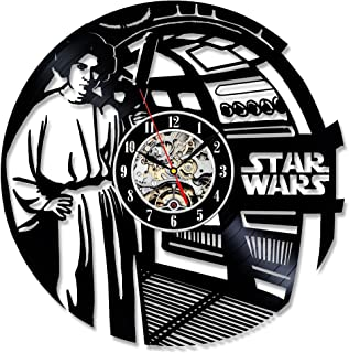 Princess Leia Han Solo Star Wars Vinyl Record Wall Clock - Decorate Your Home with Modern Art - Best Gift for Man, Woman, ...