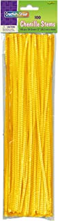 Creativity Street Chenille Stems/Pipe Cleaners 12 Inch x 4mm 100-Piece, Yellow