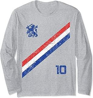 Nederland Soccer Jersey Style Vintage Holland Netherlands  Long Sleeve T-Shirt