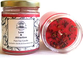 Love & Attraction 8 oz Soy Spell Candle for Romance & Relationships Wiccan Pagan Hoodoo