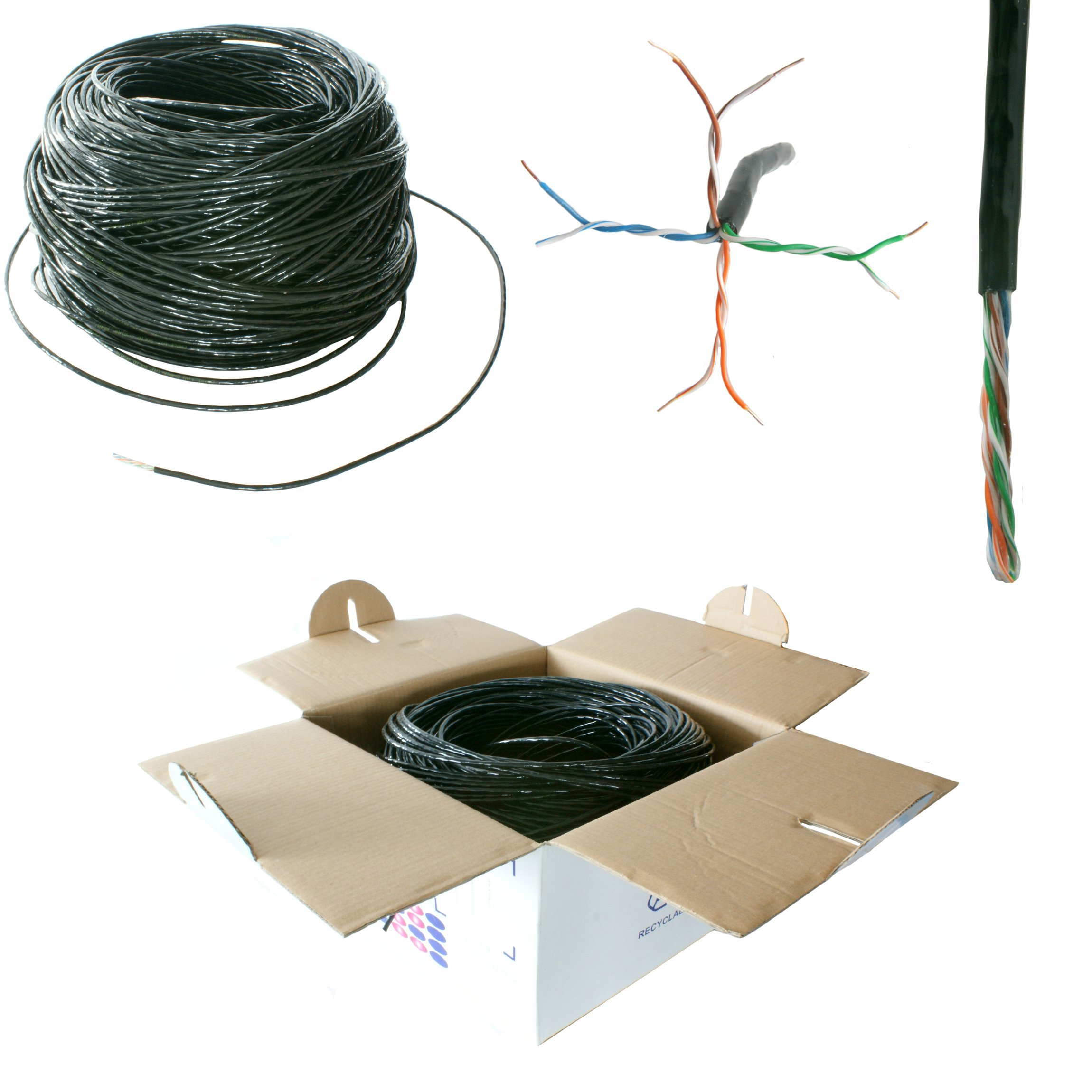 50M CAT5e ETHERNET Network LAN UTP RJ45 Cable Reel//Drum-Copper Outdoor External