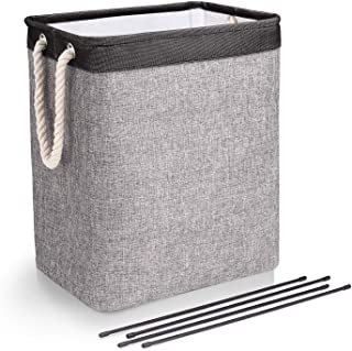 65L Laundry Basket with Handles Linen Hampers for Laundry Storage bags, Built-in Lining with Detachable Brackets Well-Hold...