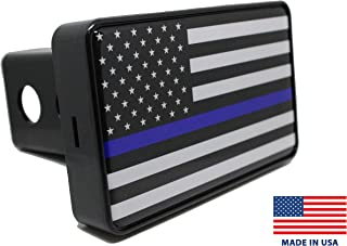Bright Hitch - Thin Blue Line American Flag Hitch Cover