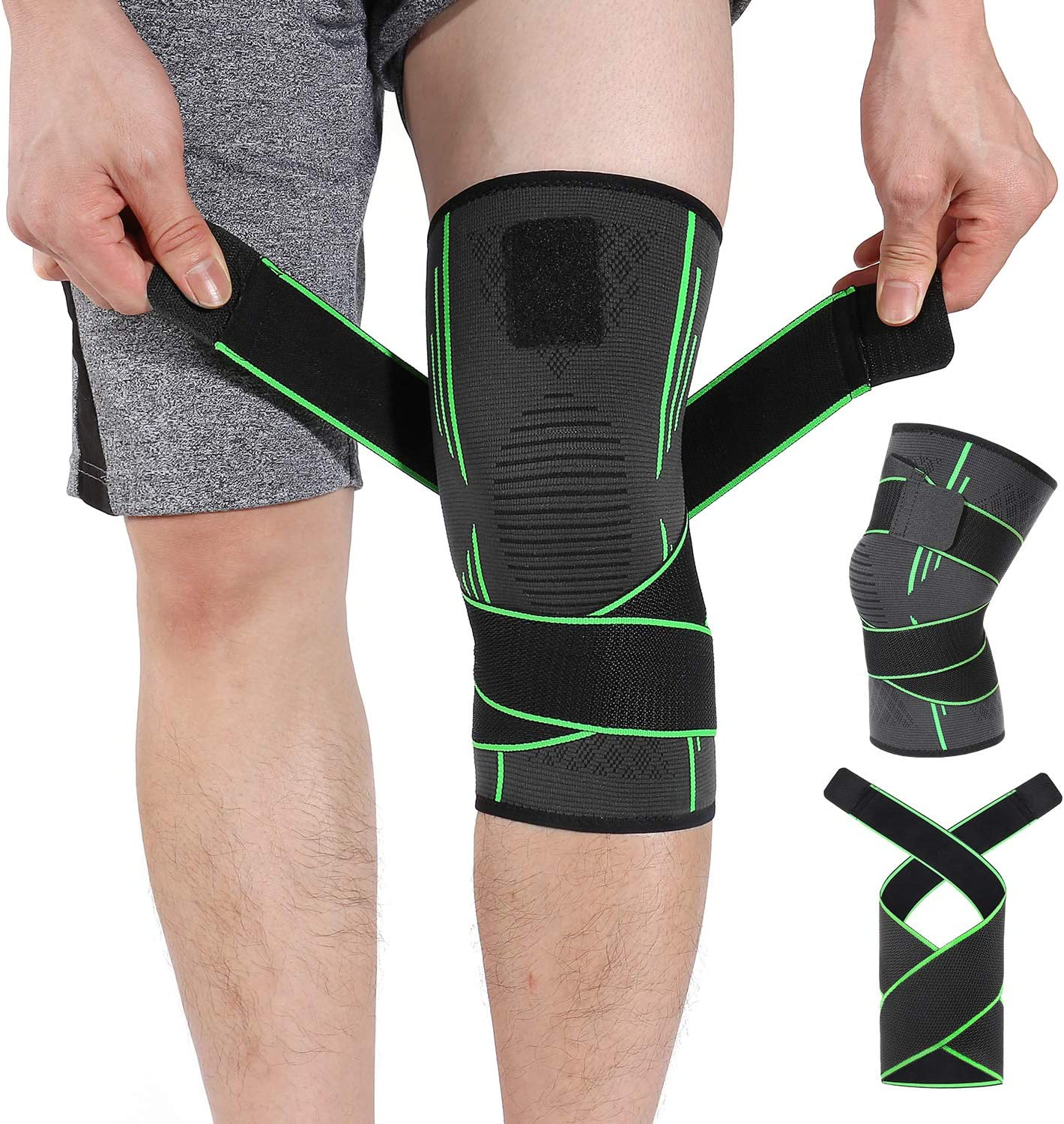 HOMPO Knee Brace National products Compression Kne Adjustable Non-Slip Max 65% OFF Sleeve