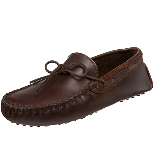 Minnetonka Mens Original Cowhide Driving Moccasin Brown