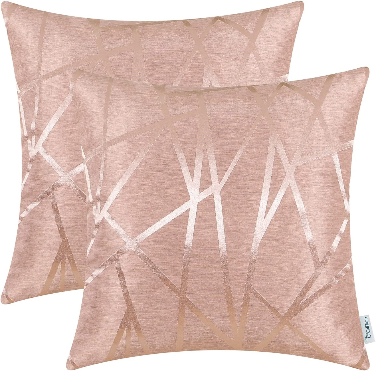 CaliTime Pack of 2 Throw Max 74% OFF Now free shipping Pillow for Sofa Cases Couch Covers Home