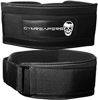 Gymreapers Weightlifting Belt for Cross Training Olympic Lifting, Squats, WODs - Low Profile 4 Inch Adjustable Velcro Weig...