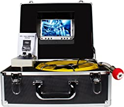 Pipe Pipeline Inspection Camera, Drain sewer Industrial Endoscope HBUDS PIC20 Waterproof IP68 Snake Video System with 7 Inch LCD Monitor 1000TVL Sony CCD Camera with 20M Cable