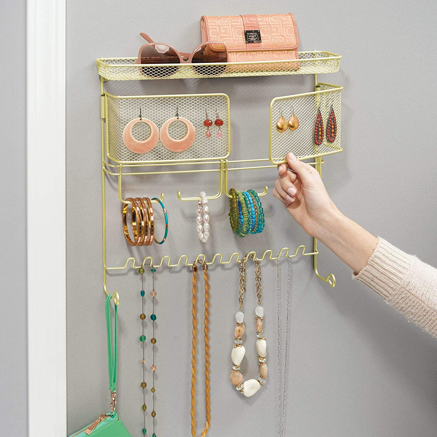 Cash special price Omaha Mall InterDesign 07186 Classico Hanging Fashion for Jewelry Organizer