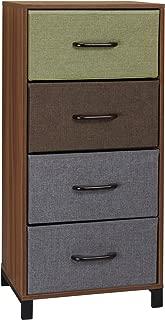 Household Essentials 8034-1 Wooden 4 Drawer Dresser | Storage Night Stand | Honey Maple