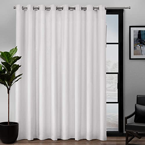 high quality Exclusive Home Curtains sale Loha Single Curtain Panel, 108x84, sale Winter White outlet online sale