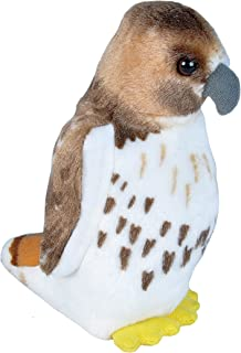 Wild Republic Audubon Birds Red Tailed Hawk Plush with Authentic Bird Sound, Stuffed Animal, Bird Toys for Kids & Birders