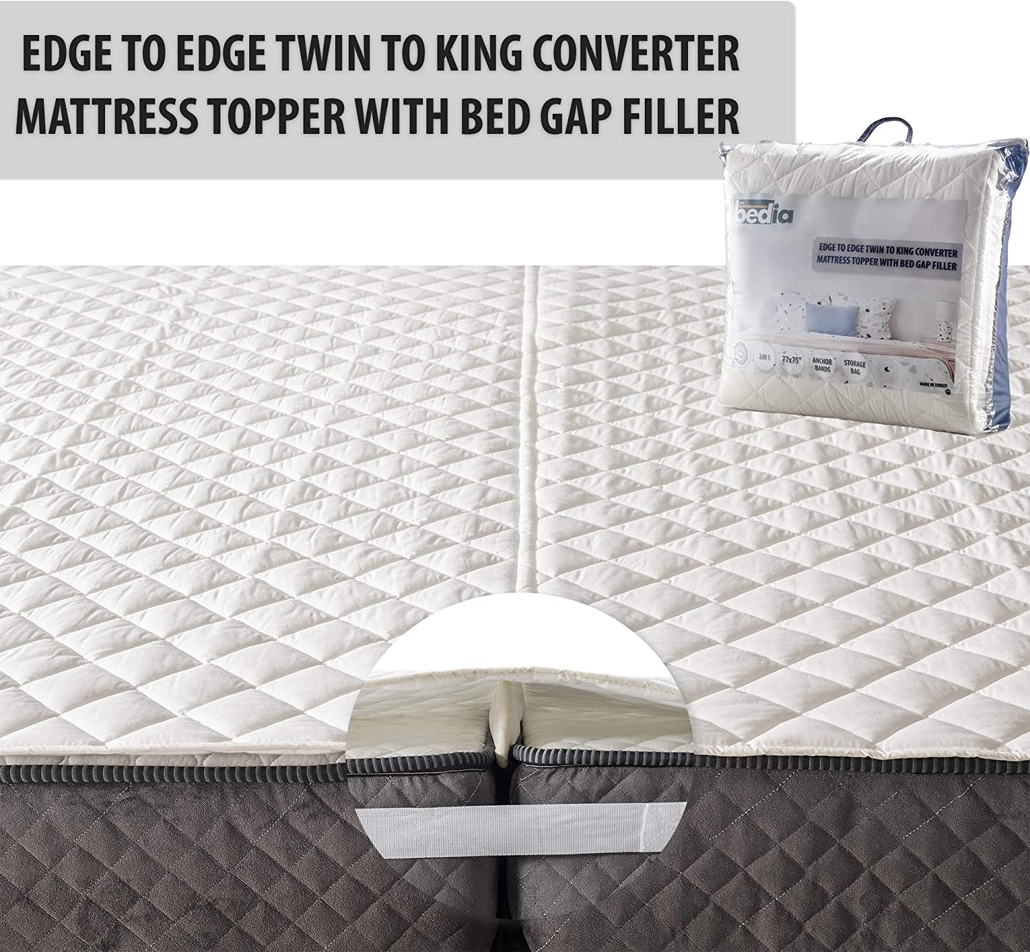 BEDIA Bed Sale Special Price Bridge Connector Twin Ranking TOP17 to King Adjustable Converter