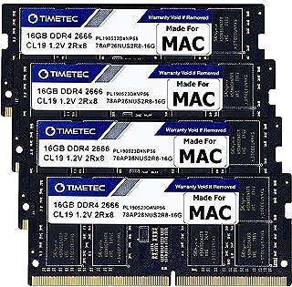 Timetec Hynix IC Mac用 DDR4 SODIMM 2666MHZ PC4-21300/PC4-21333 Apple専用増設メモリ 永久保証 (64GB(16GBx4枚))