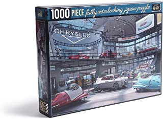 Fallout 1000-Piece Jigsaw Puzzle - A Busy Day - Depicting The Chryslus Showroom at its Peak, Full of customers Cars