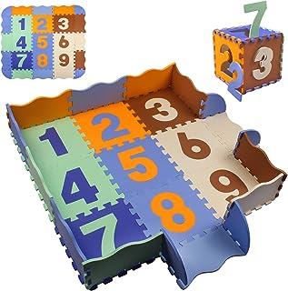 swonuk Alfombra Puzzle para Niños, Puzzle Estera de Juguete de Espuma Sólida, 25 Piezas Grueso (0.47 Pulgadas) para Decoración de la habitación de los niños