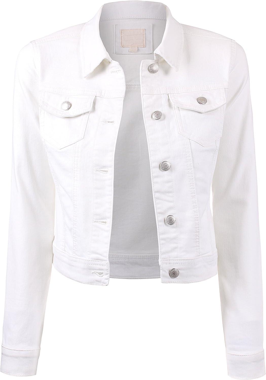 BEKTOME Womens Classic Casual Vintage Denim Jean Jacket