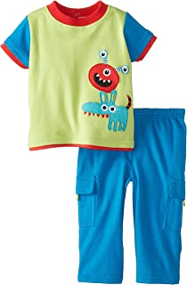 Nuby Baby Boys' 2 Piece Pant Set Baby Monster