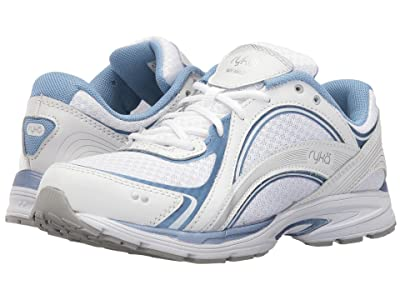 Ryka Sky Walk (White/Metallic Lake Blue/Chrome Silver) Women