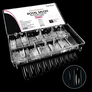 Beyou Clear Royal Salon 500 Artificial False Nail Tips 10Sizes With Clear Plastic Case for Nail Shop Nail Salon …