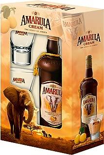 Amarula - Wild Fruit Cream Likör Set mit 2 Gläsern 17% Vol. - 0,7l