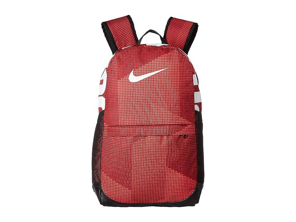 Nike Kids Brasilia Printed Backpack (Little Kids/Big Kids) (Red Crush/Black/White) Backpack Bags