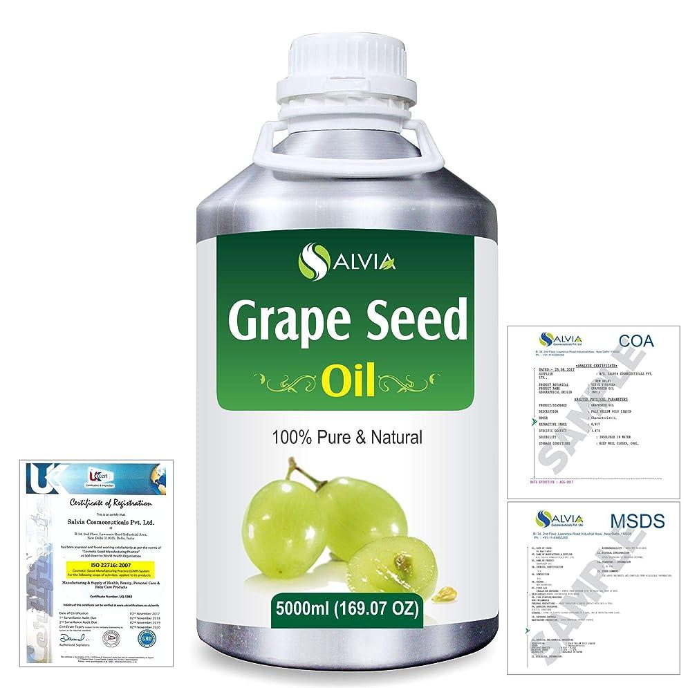 同僚有害エラーGrape Seed (Vitis vinifera) 100% Natural Pure Undiluted Uncut Carrier Oil 5000ml/169 fl.oz.