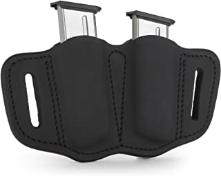 1791 GUNLEATHER 2.1 Mag Holster - Double Mag Pouch for Single Stack Mags, OWB Magazine Pouch for Belts - Classic Brown, St...