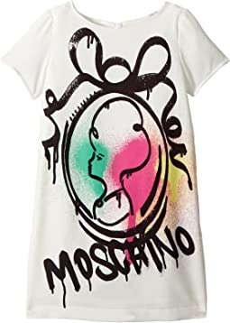 Short Sleeve Logo Graffiti Graphic Dress (Little Kids/Big Kids)