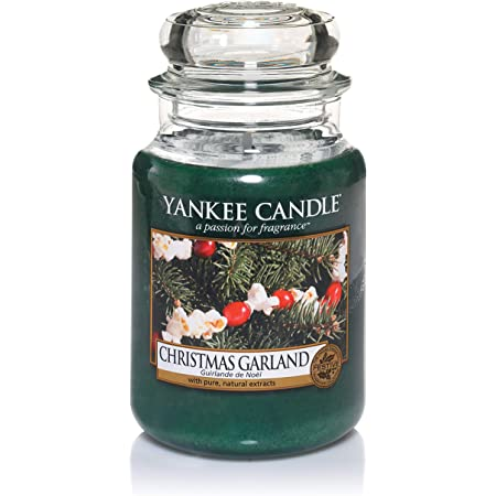 Yankee Candle Christmas Garland Candela in giara grande, Fino a 150 ore di combustione