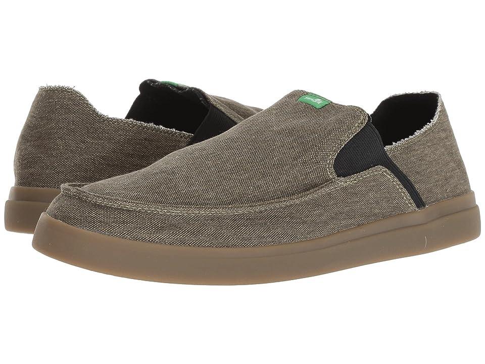 Sanuk Pick Pocket Slip-On Sneaker (Dark Olive/Gum) Men