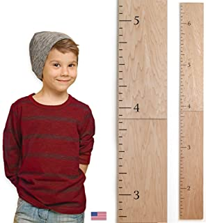 Headwaters Studio Modern Wooden Ruler Growth Chart (Natural)