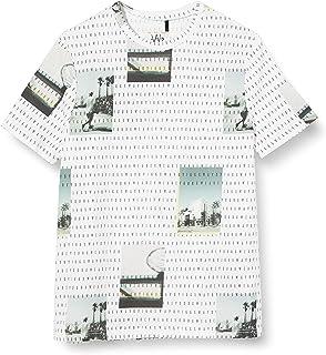 IKKS Junior tee-Shirt Blanc Optique Imprimé Paysage Et Inscription Camiseta para Niños