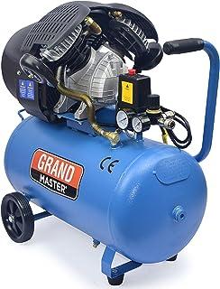 comprar comparacion Grandmaster - Compresor de Aire 50 Litros 220V, Dos Cilindros 356L/min, 2200W/3cv, 8 Bares/118psi, Filtro de Aire, Velocid...