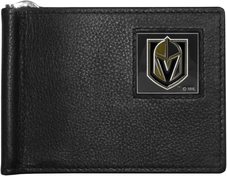NHL Vegas golden Knights Mens Leather Bill Clip Wallet, Bifold