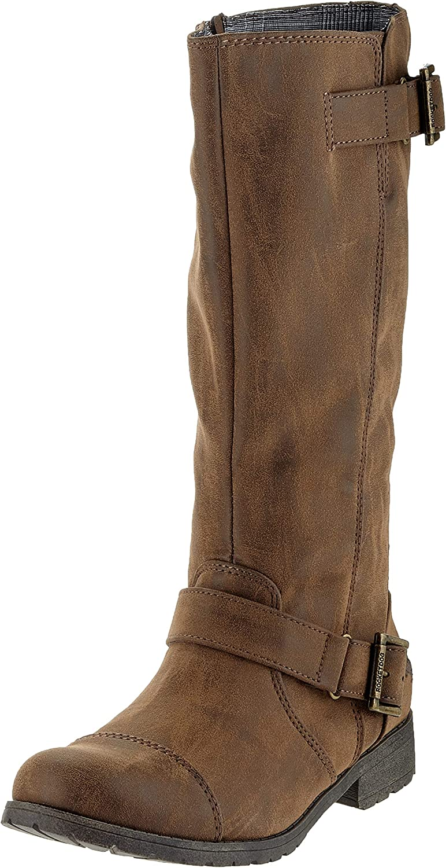 Rocket Dog Womens Long Beach Mall Berry Knee-high Max 48% OFF Brown Boots