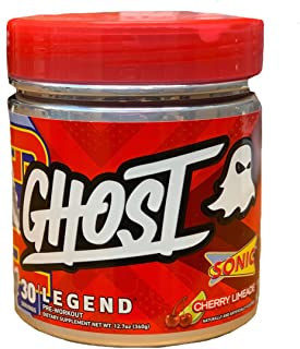 GHOST Legend 30 Servings Pre-Workout Supplement (Sonic Cherry Limeade, 1 Container)