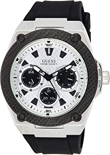 Guess Men's Analogue Quartz Watch with Rubber Strap W1049G3