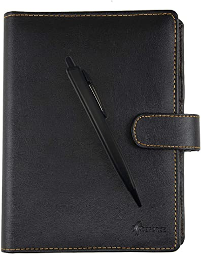 Officeforce A5 Business Leather Notepad Planner Organizer Diary 2020|Small Size 80 GSM Spiral Notebook 192 Pages,Magn...