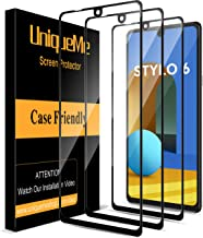 [ 3 Pack ] UniqueMe Screen Protector for LG Stylo 6 Tempered Glass [Full Coverage] Edge..