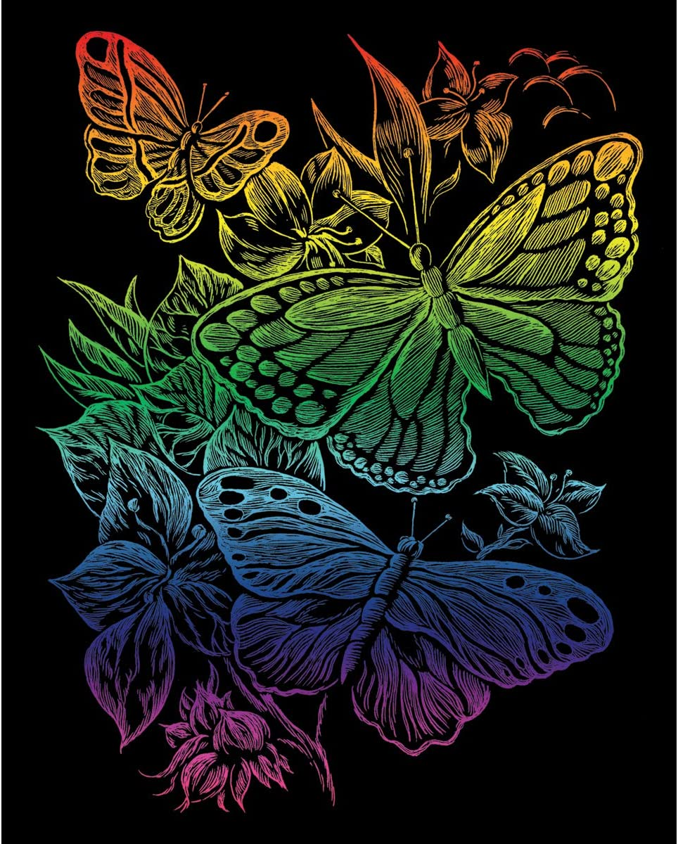 Rainbow Foil Ranking integrated 1st place Engraving Kit 8inX10in-Butterflies Art Max 59% OFF