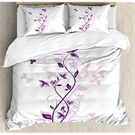 Pink Black Ambesonne Teen Room Duvet Cover Set Doodle Frames in French Style Rococo Baroque Lantern Mademoiselle Print Decorative 3 Piece Bedding Set with 2 Pillow Shams Queen Size