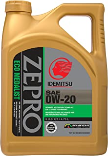 ZEPRO 30010095-95300C020 Eco Medalist Advanced Moly 0W-20 Engine Oil (5 Quart), 160. Fluid_Ounces