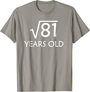 9th Birthday T-Shirt | Square Root of 81 - 9 Years Old