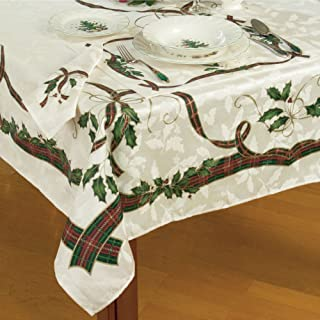 Lenox Holiday Nouveau Christmas Tablecloth ~ 60 x 84