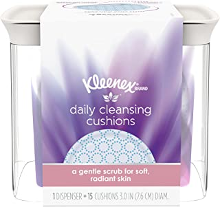 Kleenex Daily Cleansing Pads with Dispenser, 15 Facial Pads