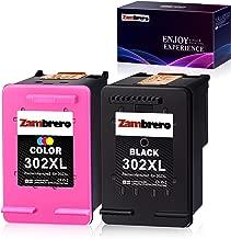 Zambrero Remanufacturado HP 302XL 302 XL Cartuchos de tinta Negro y Tricolor para HP Deskjet 1110 2130 3630 3633 3636 HP Envy 4520 4524 4525 4527 HP OfficeJet 3830 3831 4650 5230